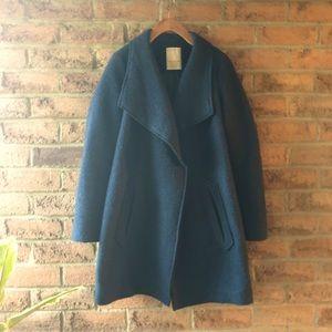 ESPIRT | Blue teal water fall wool light jacket